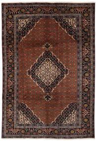 Ardebil Vloerkleed 201X290 Echt Oosters Handgeknoopt Zwart/Donkerbruin (Wol, Perzië/Iran)