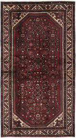 Hamadan Vloerkleed 108X198 Echt Oosters Handgeknoopt Zwart/Donkerbruin (Wol, Perzië/Iran)