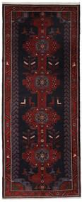 Hamadan Vloerkleed 157X390 Echt Oosters Handgeknoopt Tapijtloper Zwart (Wol, Perzië/Iran)
