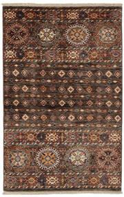 Shabargan Vloerkleed 86X134 Echt Modern Handgeknoopt Zwart/Donkerbruin (Wol, Afghanistan)