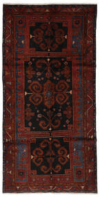 Hamadan Vloerkleed 145X290 Echt Oosters Handgeknoopt Tapijtloper Zwart (Wol, Perzië/Iran)