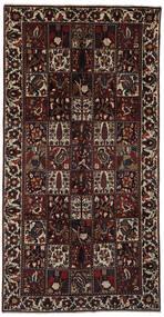 Bakhtiar Vloerkleed 158X308 Echt Oosters Handgeknoopt Tapijtloper Zwart/Donkerbruin (Wol, Perzië/Iran)