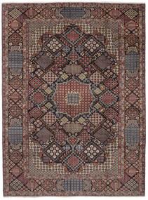 Najafabad Vloerkleed 302X405 Echt Oosters Handgeknoopt Donkerbruin/Zwart Groot (Wol, Perzië/Iran)