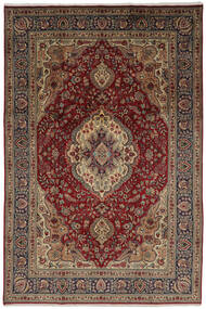Tabriz Vloerkleed 206X304 Echt Oosters Handgeknoopt Donkerbruin/Zwart (Wol, Perzië/Iran)