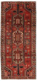 Ardebil Vloerkleed 140X308 Echt Oosters Handgeknoopt Tapijtloper Zwart/Donkerrood (Wol, Perzië/Iran)