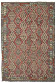 Kelim Afghan Old Style Vloerkleed 210X303 Echt Oosters Handgeweven (Wol, Afghanistan)