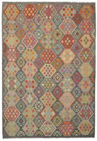 Kelim Afghan Old Style Vloerkleed 201X293 Echt Oosters Handgeweven (Wol, Afghanistan)