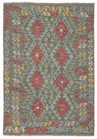 Kelim Afghan Old Style Vloerkleed 125X177 Echt Oosters Handgeweven Donkergroen (Wol, Afghanistan)