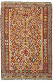 Kelim Afghan Old Style Vloerkleed 122X184 Echt Oosters Handgeweven Donkerbruin/Bruin (Wol, Afghanistan)