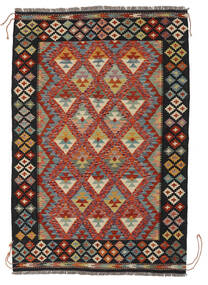 Kelim Afghan Old Style Vloerkleed 129X190 Echt Oosters Handgeweven Zwart/Wit/Creme (Wol, Afghanistan)