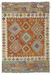 Kelim Afghan Old Style Vloerkleed 121X176 Echt Oosters Handgeweven Donkerbruin/Donkergroen (Wol, Afghanistan)