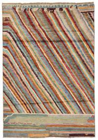 Moroccan Berber - Afghanistan Vloerkleed 120X174 Echt Modern Handgeknoopt Donkerbruin/Donkergroen (Wol, Afghanistan)