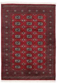 Pakistan Bokhara 3Ply Vloerkleed 140X197 Echt Oosters Handgeknoopt Zwart/Donkerrood (Wol, Pakistan)