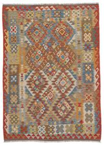 Kelim Afghan Old Style Vloerkleed 130X170 Echt Oosters Handgeweven Donkerbruin/Bruin (Wol, Afghanistan)