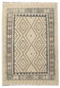 Kelim Afghan Old Style Vloerkleed 124X180 Echt Oosters Handgeweven Donkerbruin/Lichtbruin (Wol, Afghanistan)