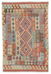 Kelim Afghan Old Style Vloerkleed 100X150 Echt Oosters Handgeweven Donkerbruin/Beige (Wol, Afghanistan)
