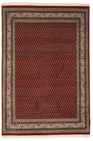 Mir Indiaas Vloerkleed 140X205 Echt Oosters Handgeknoopt Zwart/Donkerbruin (Wol, India)