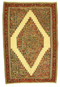 Kelim Senneh Vloerkleed 198X292 Echt Oosters Handgeweven (Wol, Perzië/Iran)